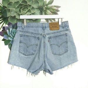Vintage Levi's Orange Tag Cutoff Denim Jean Shorts